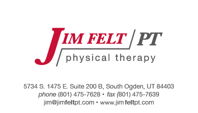 Jim Felt PT Business Card Front