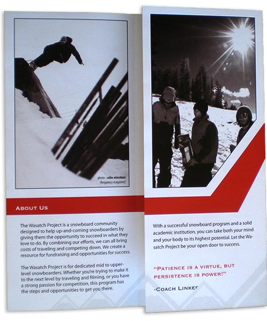 Wasatch Project Brochure Inside